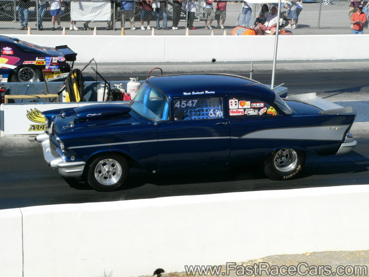 Navy Blue 1955 Chevy