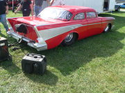 Red 1957 Chevrolet