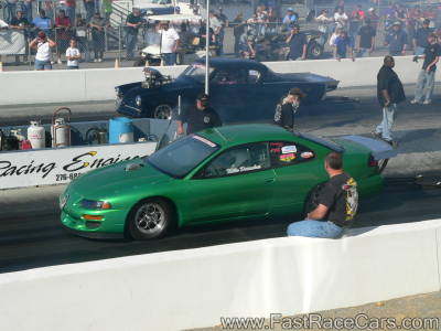 TURBO-POWERED GREEN DODGE AVENGER 10.5 OUTLAW CAR