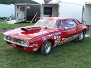 Red 1968 Camaro Drag Car