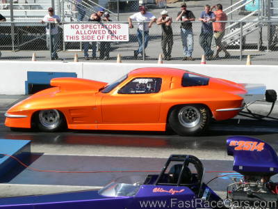 ORANGE 1963 CORVETTE Drag Car