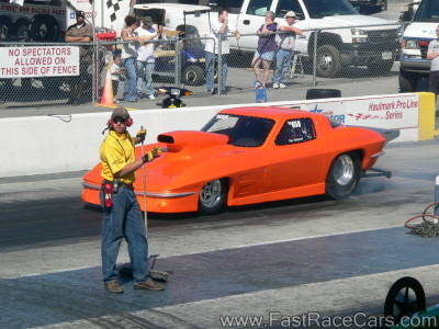 ORANGE CORVETTE Top Sportsman Drag Car