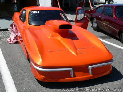 ORANGE 1963 CORVETTE FRONT View