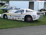 White Corvette Drag Car
