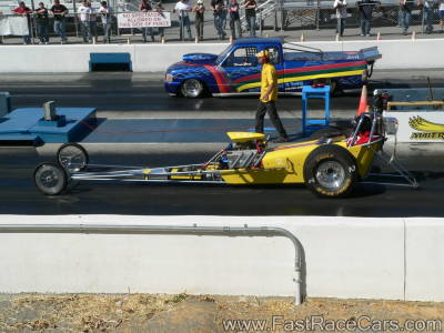 Yellow DRAGSTER