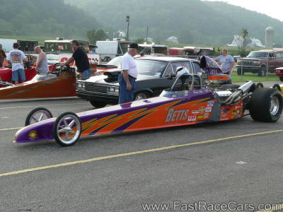 Purple and Orange DRAGSTER