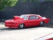 Solid Red Nova Drag Car