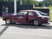 Maroon NOVA Drag Car