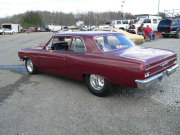 Maroon 1967 Nova Drag Car