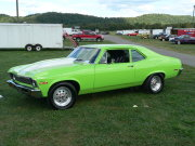 Lime Green Nova Drag Car