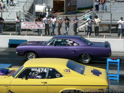 Purple Plymouth Roadrunner