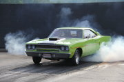 Green Roadrunner Doing Burnout