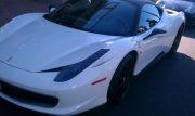 White 2012  Ferrari 458 Spider