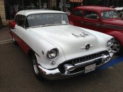Red And White 1955 Chevrolet Bel Air