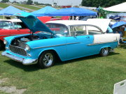 Baby Blue And White 1956 Chevy