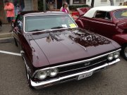 Maroon 1966 Chevelle Ss 396