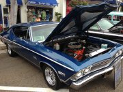 Blue 1968 Chevrolet Chevelle Malibu With 327 Ci Motor