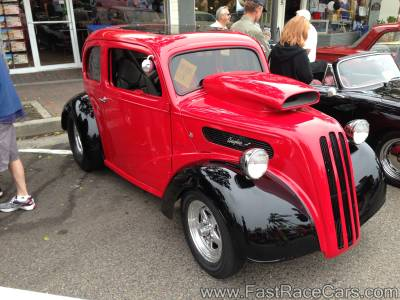 Red and Black Custom Ford Anglia Pro Street Car