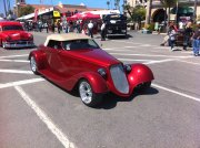 Red 1934 Ford Coupe