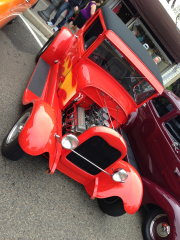 Red 1932 Ford 5-Window Coupe