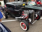 Black 5-window Ford Coupe with Whitewalls
