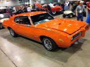 Orange Pontiac Gto