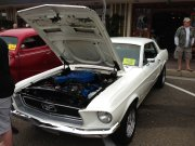 White 1968 Ford Mustang GT