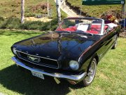 Black 1966 Ford Mustang Convertible