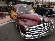 Maroon Pontiac Woody Wagon