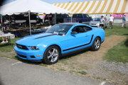 Bright Blue Mustang