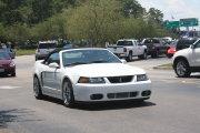 White Cobra Mustang Convertible
