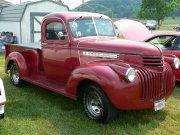 Maroon Chevrolet Truck