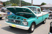 Teal And White Ford Truck