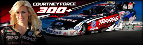 Courtney Force and Traxxis Funny Car